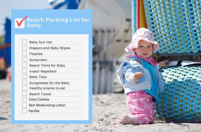 Beach Packing List for Baby and Toddlers - Printable List
